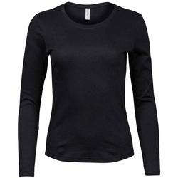 Kleidung Damen Langarmshirts Tee Jays T590 Schwarz