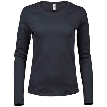 Kleidung Damen Langarmshirts Tee Jays T590 Dunkelgrau