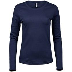 Kleidung Damen Langarmshirts Tee Jays T590 Marineblau