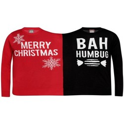 Kleidung Sweatshirts Christmas Shop  Rot/Schwarz