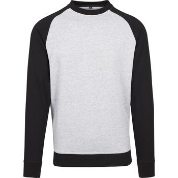 Kleidung Herren Langarmshirts Build Your Brand BY076 Grau/Schwarz