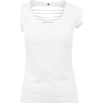 Kleidung Damen T-Shirts Build Your Brand BY035 Weiß