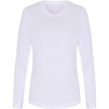 Kleidung Damen Langarmshirts Tridri TR060 Weiß