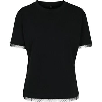 Kleidung Damen T-Shirts Build Your Brand BY124 Schwarz