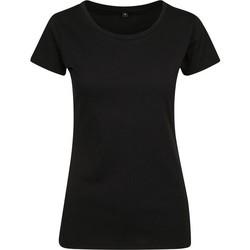 Kleidung Damen T-Shirts Build Your Brand BY086 Schwarz