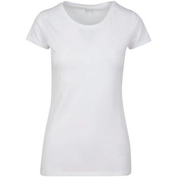 Kleidung Damen T-Shirts Build Your Brand BY086 Weiß
