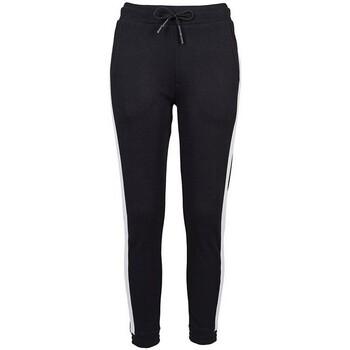 Kleidung Damen Jogginghosen Build Your Brand BY103 Schwarz/Weiß