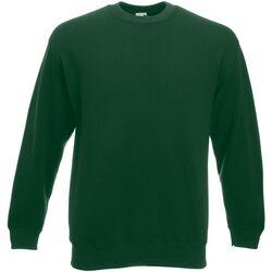 Kleidung Herren Sweatshirts Fruit Of The Loom  Flaschengrün