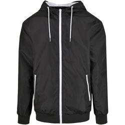 Kleidung Herren Jacken Build Your Brand BY151 Schwarz/Weiß