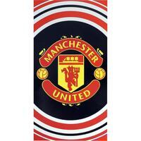Home Handtuch und Waschlappen Manchester United Fc Taille unique Schwarz/Rot/Weiß