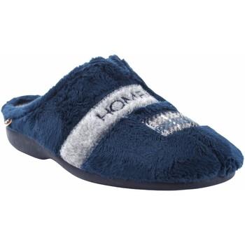 Schuhe Herren Hausschuhe Berevere Go home Gentleman  in 1601 blau Blau