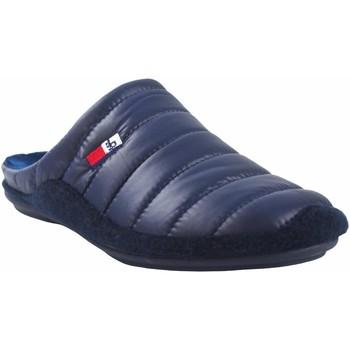 Schuhe Herren Hausschuhe Berevere Go home Gentleman  in 9671 blau Blau