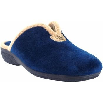 Schuhe Damen Hausschuhe Berevere Go home Lady  in 975 Blau Blau