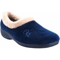 Schuhe Damen Hausschuhe Berevere Go home Lady  in 888 blau Blau