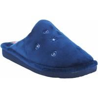 Schuhe Damen Hausschuhe Berevere Go home Lady  in 0530 blau Blau
