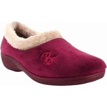 Schuhe Damen Hausschuhe Berevere Go home lady  in 888 bordeaux Rot