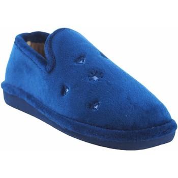 Schuhe Damen Hausschuhe Berevere Go home Lady  in 0585 blau Blau