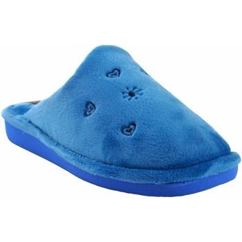 Schuhe Damen Hausschuhe Berevere Gehen Sie nach Hause Frau  in 0530 celeste Blau