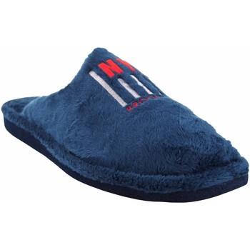 Schuhe Herren Hausschuhe Berevere Go home Gentleman  in 1705 blau Blau