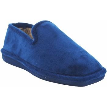 Schuhe Herren Hausschuhe Berevere Go home Gentleman  in 711 blau Blau