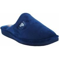 Schuhe Herren Hausschuhe Berevere Go home Gentleman  in 502 blau Blau