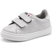 Schuhe Mädchen Sneaker Low Cienta Chaussures fille  Deportivo Scractch Glitter gris clair