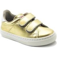 Schuhe Mädchen Sneaker Low Cienta Chaussures fille  Deportivo Scractch Laminado doré