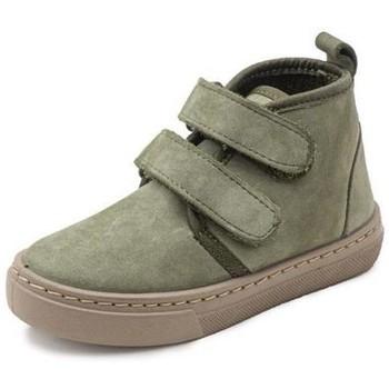 Schuhe Mädchen Sneaker High Cienta Bottines fille  Doble Velcro On Napa vert kaki