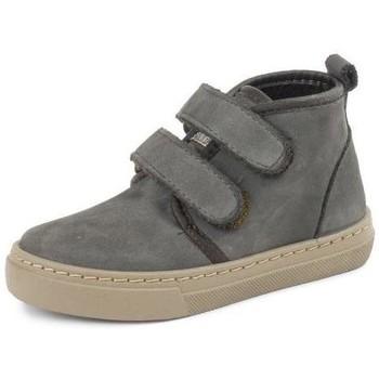Schuhe Mädchen Sneaker High Cienta Bottines fille  Doble Velcro On Napa gris anthracite