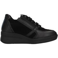 Schuhe Damen Sneaker High Melluso R25623A Schwarz