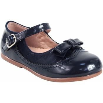 Schuhe Mädchen Ballerinas Bubble Bobble Mädchenschuh  a3555 blau Blau