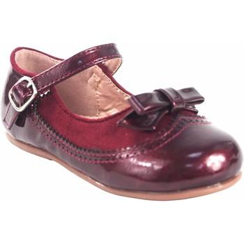 Schuhe Mädchen Ballerinas Bubble Bobble Mädchenschuh  a3555 bordeaux Rot