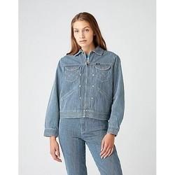 Kleidung Damen Jacken Wrangler Veste femme  Hickory bleu