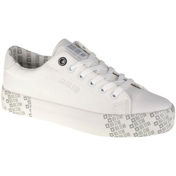 Schuhe Damen Sneaker Low Big Star Shoes Weiss