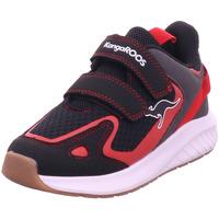 Schuhe Jungen Sneaker Kangaroos K-Fort One V jet black/fiery red 5053