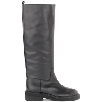 Schuhe Damen Klassische Stiefel Via Roma 15 Stivale in pelle nera Schwarz