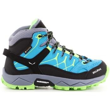 Schuhe Kinder Sneaker High Salewa JR Alp Trainer Mid Gtx Blau