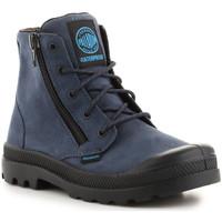 Schuhe Herren Sneaker High Palladium Pampa Hi Lea Gusset 52744-432 dunkelblau