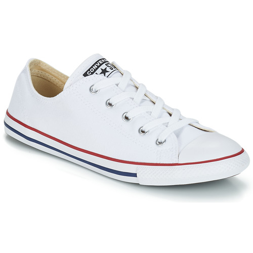Schuhe Damen Sneaker Low Converse ALL STAR DAINTY OX Weiss / Rot