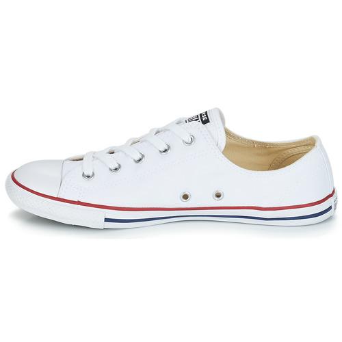 Converse Converse Converse ALL STAR DAINTY OX Weiss   Rot  Schuhe Turnschuhe Low Damen 1e026d