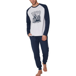 Kleidung Herren Pyjamas/ Nachthemden Admas For Men Pyjamahose und Oberteil Road Antonio Miro Admas Hellgrau
