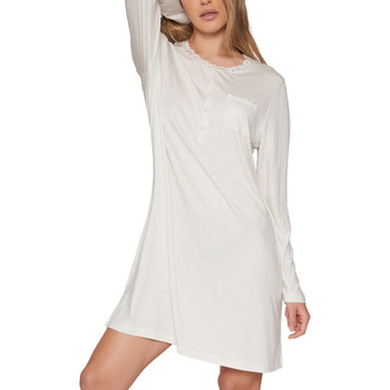 Kleidung Damen Pyjamas/ Nachthemden Admas Chemise de nuit manches longues Lace Night Hellgrau