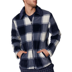 Kleidung Herren Pyjamas/ Nachthemden Admas For Men Innenjacke Jacquard Antonio Miro Admas Blau