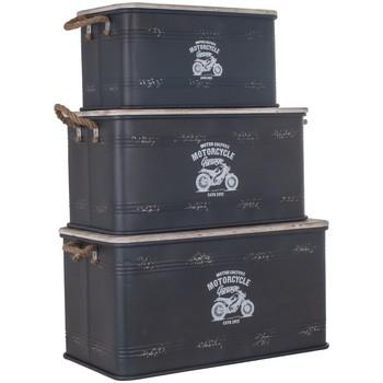 Home Koffer, Aufbewahrungsboxen Signes Grimalt Schachtel Set Von 3 He Negro