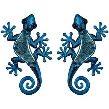 Home Statuetten und Figuren Signes Grimalt Figur Eidechsen 2 Einheiten Azul