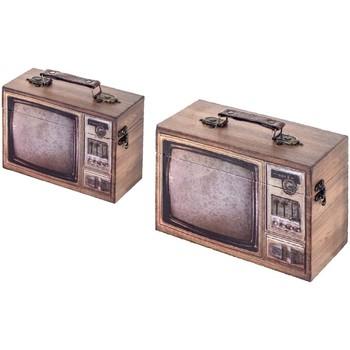 Home Koffer, Aufbewahrungsboxen Signes Grimalt Telebox Set 2 He Marrón