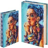 Home Koffer, Aufbewahrungsboxen Signes Grimalt Bücherkiste Set 2 U Azul
