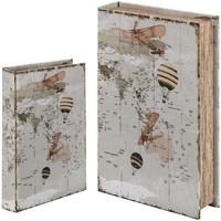Home Koffer, Aufbewahrungsboxen Signes Grimalt Bücherkiste Set 2 U Blanco