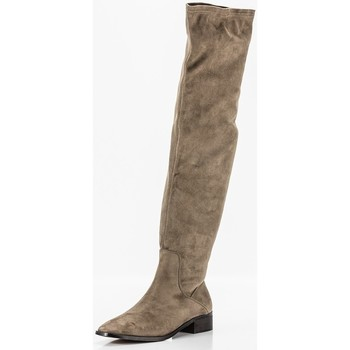 Schuhe Damen Klassische Stiefel Corina M1801 Beige