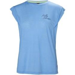Kleidung Damen T-Shirts Helly Hansen Siren Spring Hellblau